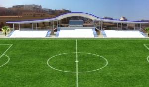 Lampedusa, pronto il nuovo campo da calcio.