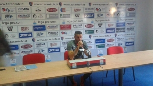 """Il tecnico del Taranto presenta la gara con l'Akragas. """"Stendardo punito per comportamento irriguardoso"""""""