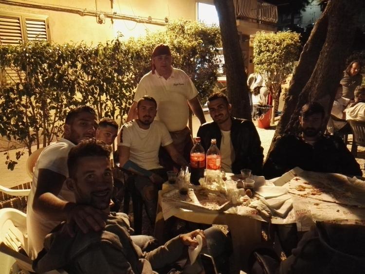 L'Akragas a tavola per festeggiare la vittoria del derby