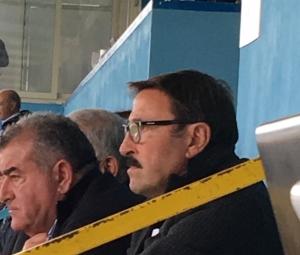 Totò Vullo in tribuna a Campofranco. Sarà lui il nuovo tecnico dell'Akragas?