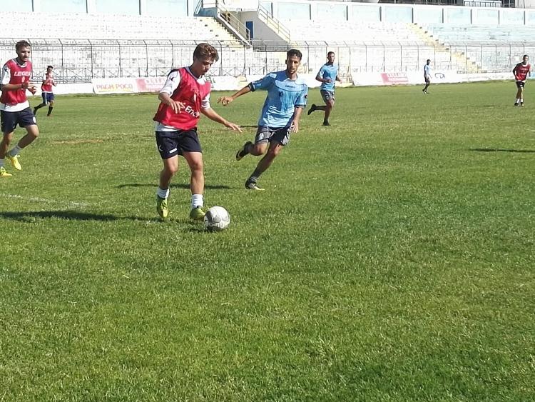 Akragas, allenamento con la Berretti.