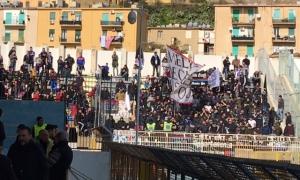 I tifosi del Catania all'Esseneto